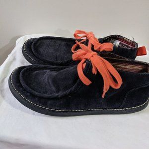 Rocket Dog Lace-Up Loafer Booties Navy Blue Size 6
